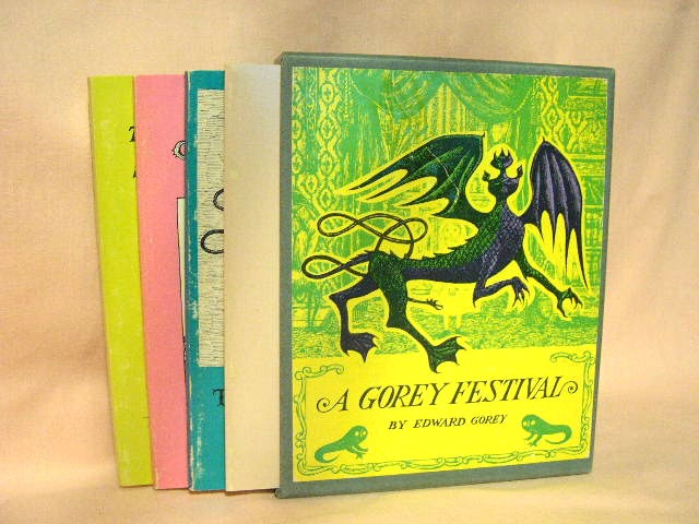 A GOREY FESTIVAL: 'The Fatal Lozenge', 'The Sinking Spell', The Hapless Child', 'The Curious Sofa'. Edward Gorey.