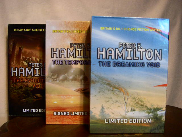 THE VOID TRILOGY. THE DREAMING VOID, THE TEMPORAL VOID, and THE EVOLUTIONARY VOID. Peter F. Hamilton.