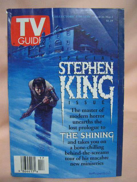 THE SHINING. TV GUIDE COLLECTORS' EDITION, APRIL 26-MAY 2, 1997. Stephen King.