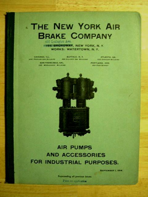 AIR PUMPS AND ACCESSORIES FOR INDUSTIAL PURPOSES, SEPTEMBER 1, 1914