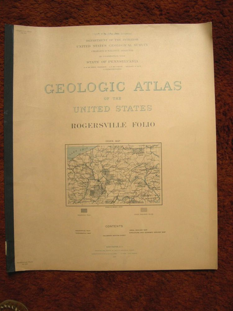 GEOLOGIC ATLAS OF THE UNITED STATES; ROGERSVILLE FOLIO, [PENNSYLVANIA]; FOLIO 146. Frederick G. Clapp, Charles D. Walcott.