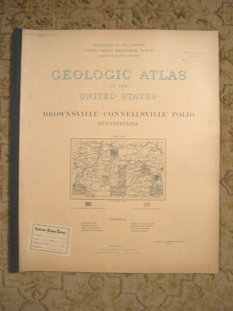 GEOLOGIC ATLAS OF THE UNITED STATES; DOVER FOLIO, DELAWARE-MARYLAND-NEW JERSEY; FOLIO 137. Marius R. Campbell, Charles D. Walcott.