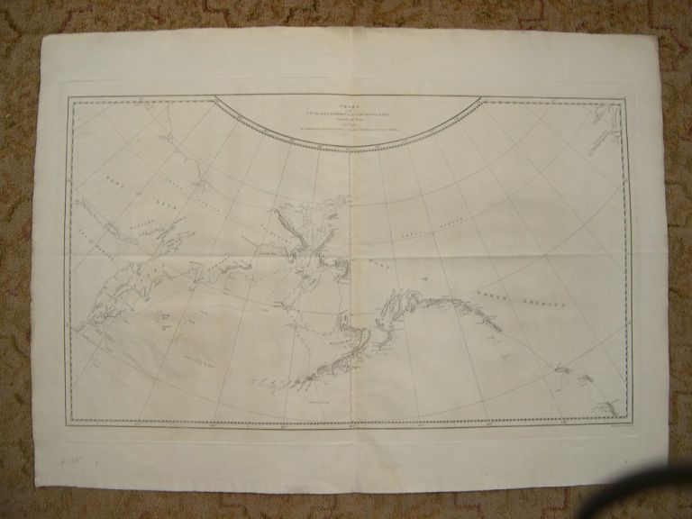 CHART OF THE NW COAST OF AMERICA AND NE COAST OF ASIA EXPLORED IN THE YEARS 1778 & 1779. THE UNSHADED PARTS OF THE COAST OF ASIA ARE TAKEN FROM A MS CHART RECEIVED FROM THE RUSSIANS [A VOYAGE TO THE PACIFIC OCEAN]. Capt. James. James King Cook.