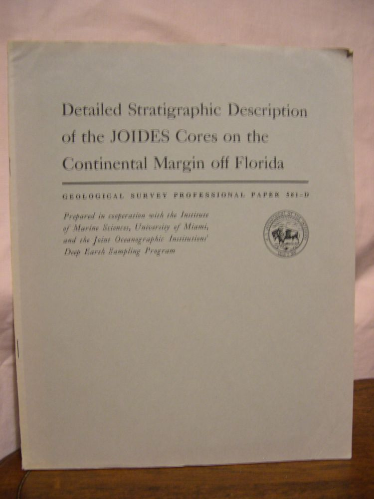 DETAILED STRATIGRAPHIC DESCRIPTION OF THE JOIDES CORES ON THE CONTINENTAL MARGIN OFF FLORIDA; DRILLING ON THE CONTINENTAL MARGIN OFF FLORIDA; GEOLOGICAL SURVEY PROFESSIONAL PAPER 581-D. W. B. Charm, W. D. Nesteroff, Sylvia Valdes.