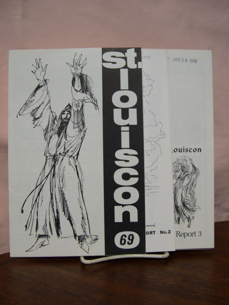 WORLD SCIENCE FICTION CONVENTION 27, AUGUST 28 - SEPTEMBER 1, 1969. SAINT LOUISCON PROGRESS REPORT 1, 2 and 3