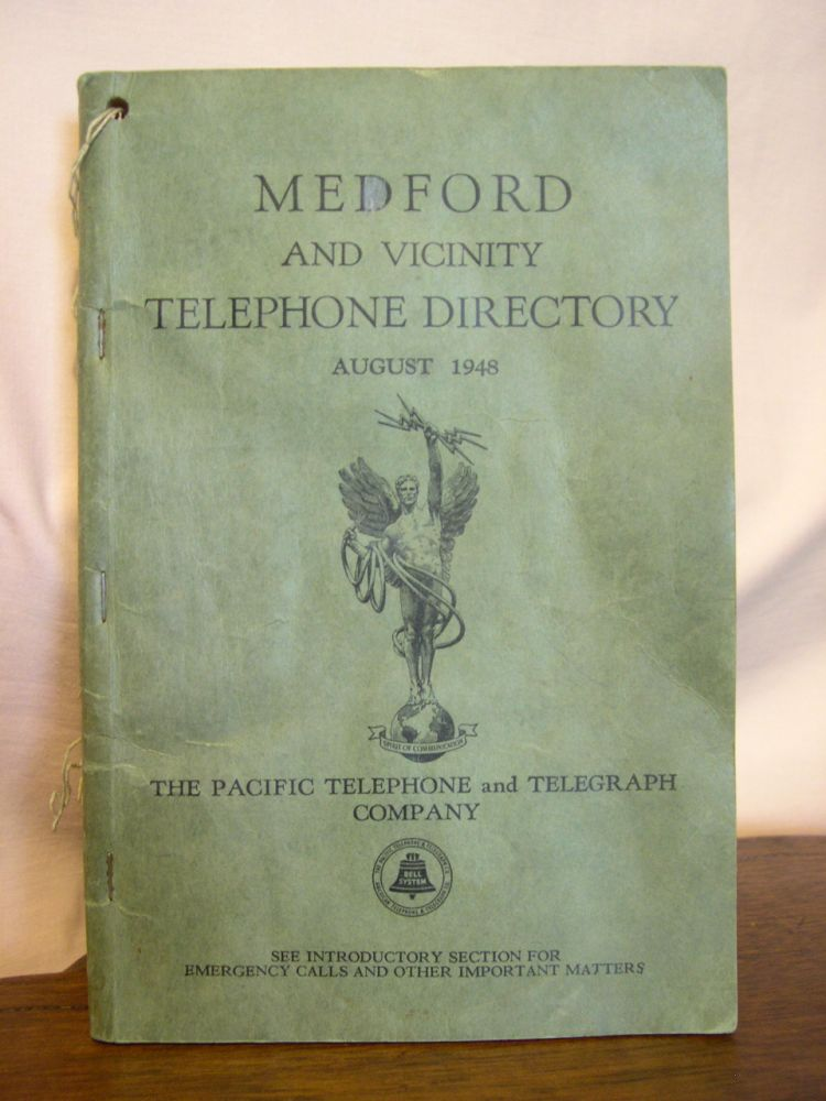 MEDFORD [OREGON] AND VICINITY TELEPHONE DIRECTORY, AUGUST 1948