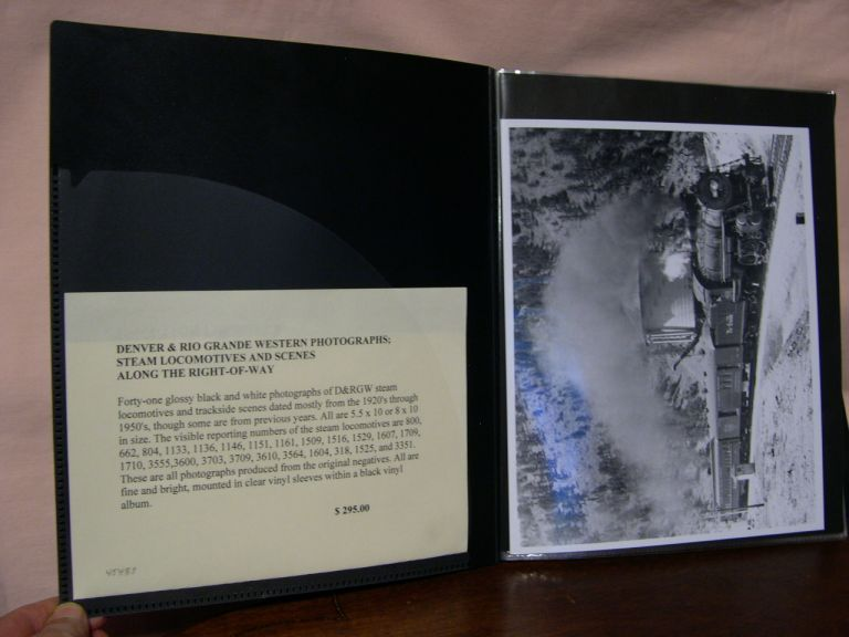 DENVER & RIO GRANDE WESTERN PHOTOGRAPHS; STEAM LOCOMOTIVES AND SCENES ALONG THE RIGHT-OF-WAY