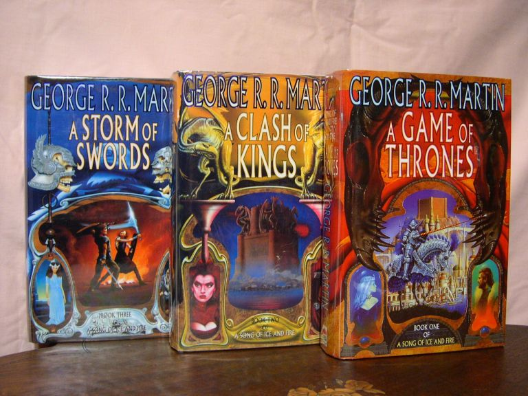 BOOKS ONE, TWO AND THREE OF A SONG OF ICE AND FIRE: A GAME OF THRONES; A CLASH OF KINGS; A STORM OF SWORDS. George R. R. Martin.
