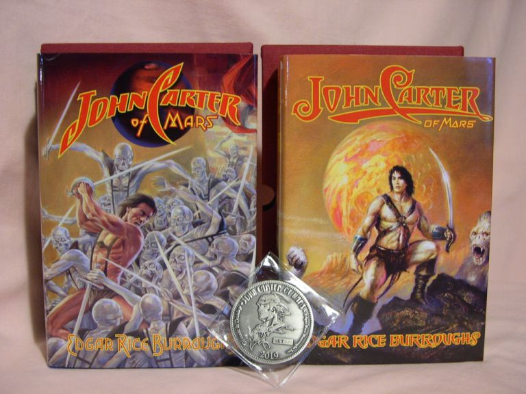 JOHN CARTER OF MARS. Two copies, each with a different dust jacket illustrated by Bob Eggleton and Douglas Klauba. Edgar Rice Burroughs.