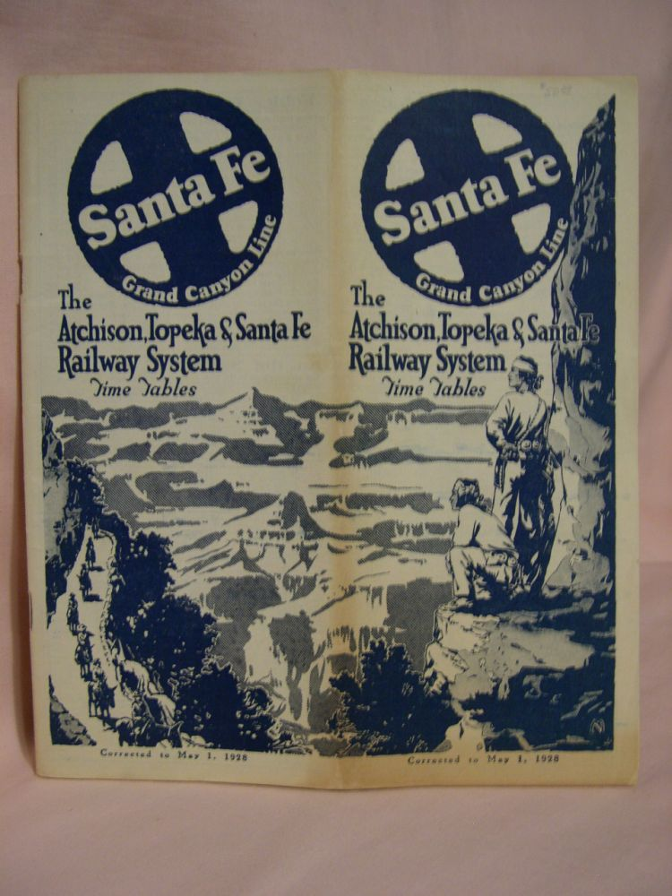 ATCHISON, TOPEKA & SANTA FE RAILWAY SYSTEM [PASSENGER] TIME TABLES, MAY 1, 1928