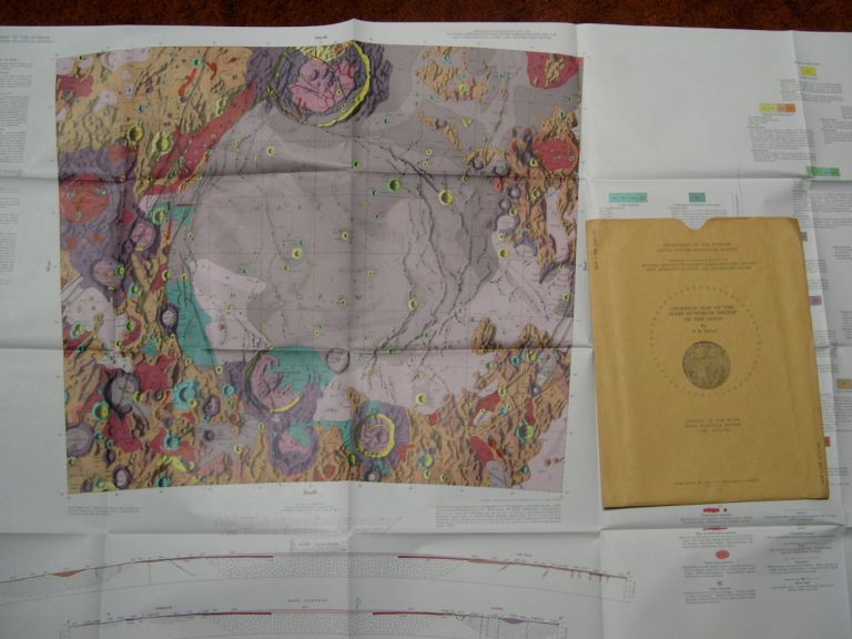 GEOLOGIC MAP OF THE MARE HUMORUM REGION OF THE MOON; GEOLOGY OF THE MOON, MARE HUMORUM REGION I-495 (LAC-93), 1967. S. R. Titley.
