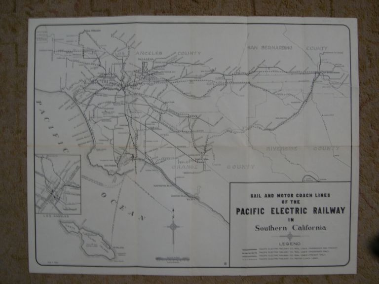 RAIL AND MOTOR COACH LINES OF THE PACIFIC ELECTRIC RAILWAY IN SOUTHERN CALIFORNIA [FEB 1, 1941]