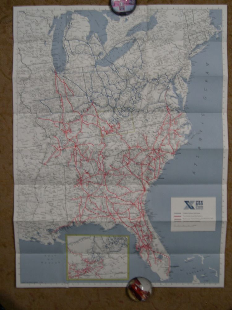 FAMILY LINES & CHESSIE SYSTEM RAILROADS SYSTEM MAP