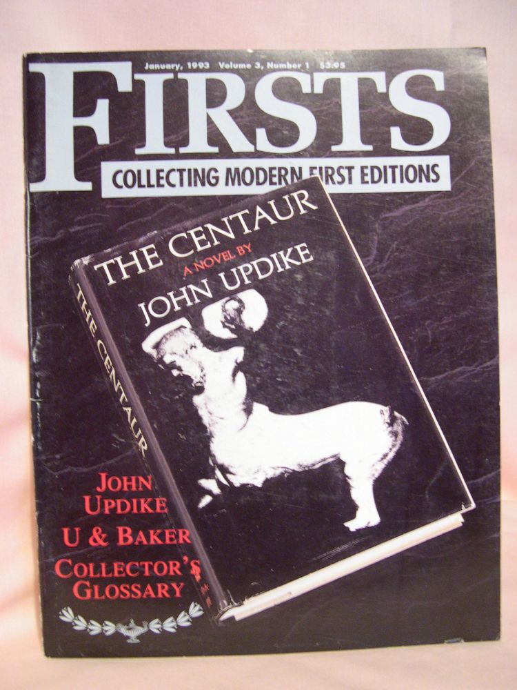 FIRSTS: COLLECTING MODERN FIRST EDITIONS; THE BOOK COLLECTOR'S MAGAZINE; OCTOBER, 1993 VOLUME 3, NUMBER 1. Kathryn Smiley.