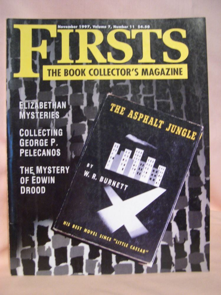 FIRSTS: COLLECTING MODERN FIRST EDITIONS; THE BOOK COLLECTOR'S MAGAZINE; OCTOBER, 1997 VOLUME 7, NUMBER 11. Kathryn Smiley.