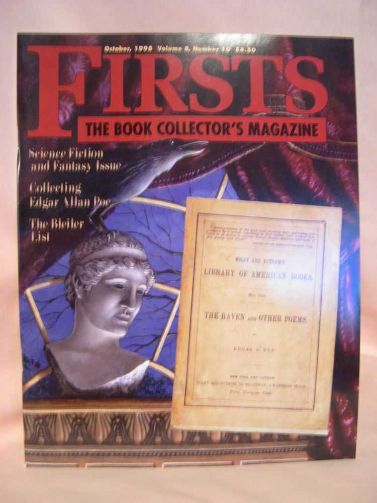 FIRSTS: COLLECTING MODERN FIRST EDITIONS; THE BOOK COLLECTOR'S MAGAZINE; OCTOBER, 1998 VOLUME 8, NUMBER 10. Kathryn Smiley.