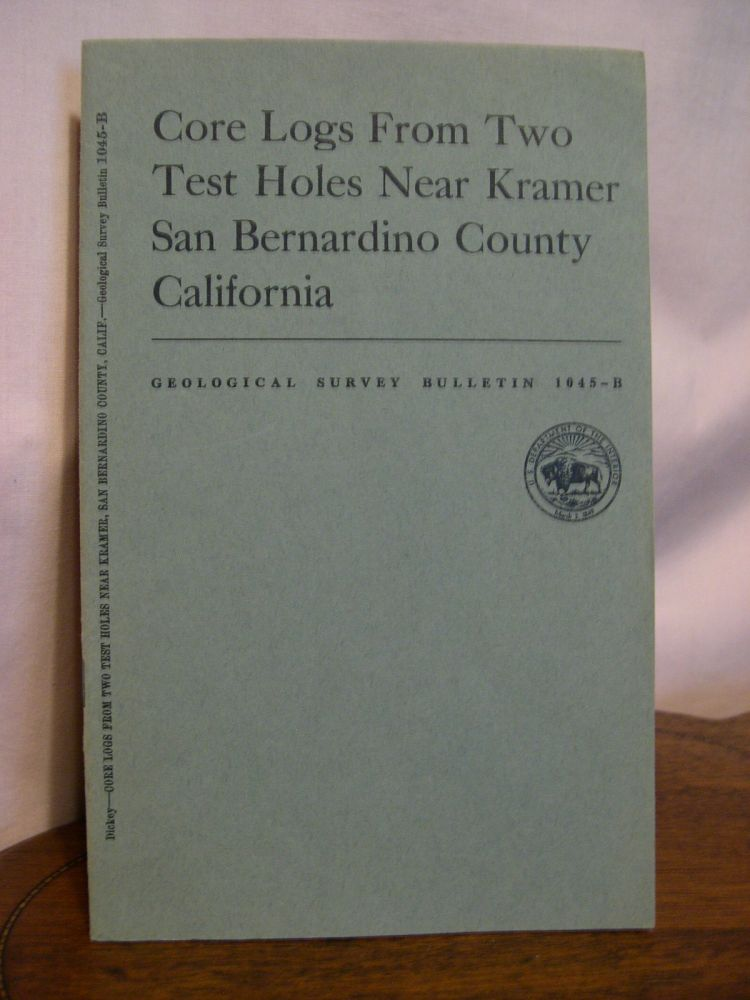 CORE LOGS FROM TWO TEST HOLES NEAR DRAMER, SAN BERNARDINO COUNTY, CALIFORNIA; GEOLOGIC INVESTIGATIONS IN THE MOJAVE DESERT AND ADJACENT REGION, CALIFORNIA; GEOLOGICAL SURVEY BULLETIN 1045-B. D. D. Dickey.
