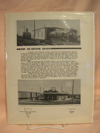 C.E.R.A. BULLETIN 38, ROBY AND NORTHERN RAILROAD