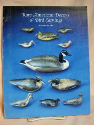 RARE AMERICAN DECOYS & BIRD CARVINGS