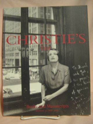 CHRISTIE'S EAST BOOKS AND MANUSCRIPTS. Christie's