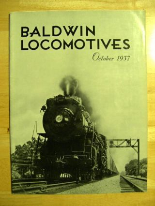 BALDWIN LOCOMOTIVES: VOLUME 16, NO. 2; OCTOBER, 1937