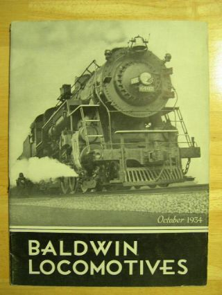 BALDWIN LOCOMOTIVES: VOLUME 13, NO. 2; OCTOBER, 1934
