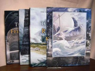 THE LORD OF THE RINGS in three volumes (THE FELLOWSHIP OF THE RING, THE TWO TOWERS, and THE...