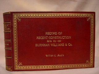 RECORD OF RECENT CONSTUCTION, NOS. 21-30, BURNHAM WILLIAMS & CO.