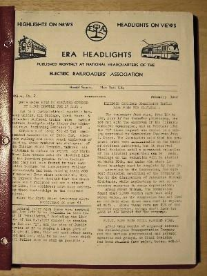 ERA HEADLIGHTS. VOLUME 4, NUMBERS 2-12, 1942, FEBRUARY-DECEMBER