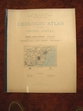 GEOLOGIC ATLAS OF THE UNITED STATES; PHILADELPHIA FOLIO; MORRIRSTOWN, GERMANTOWN, CHESTER, AND...