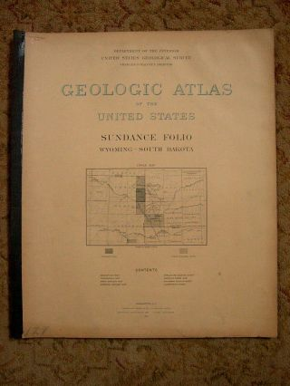 GEOLOGIC ATLAS OF THE UNITED STATES; SUNDANCE FOLIO, WYOMING-SOUTH DAKOTA; FOLIO 127. N. H....