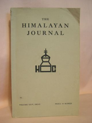 THE HIMALAYAN JOURNAL; RECORDS OF THE HIMALAYAN CLUB, VOL. XXIV, 1962-63. Dr. K. Biswas