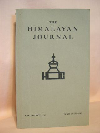 THE HIMALAYAN JOURNAL; RECORDS OF THE HIMALAYAN CLUB, VOL. XXVI, 1965. Dr. K. Biswas
