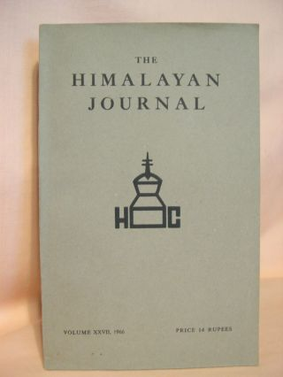 THE HIMALAYAN JOURNAL; RECORDS OF THE HIMALAYAN CLUB, VOL. XXVII, 1966. Dr. K. Biswas