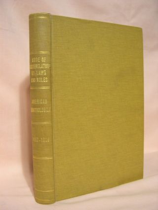 AMERICAN ORNITHOLOGISTS' UNION [Seven booklets issued by the Union, bound in hardcover. The...