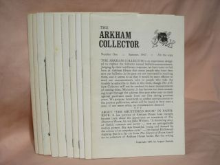THE ARKHAM COLLECTOR; NUMBERS ONE THROUGH TEN [1 - 10]. August Derleth