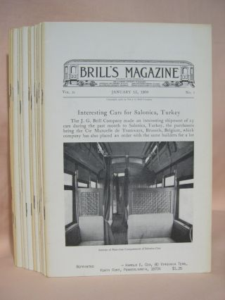 BRILL'S MAGAZINE; VOL. II, NOS. 1 THROUGH 12; JANUARY THROUGH DECEMBER, 1908