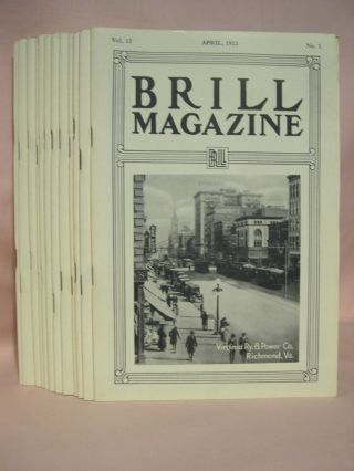 BRILL MAGAZINE; VOL. 12, NOS. 1 - 12, JANUARY - DECEMBER, 1923