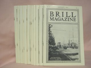 BRILL MAGAZINE; VOL. V, NOS. 1 - 12, JANUARY - DECEMBER, 1911
