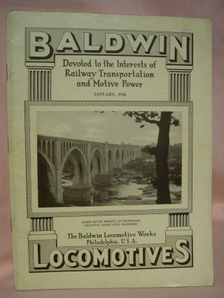 BALDWIN LOCOMOTIVES: VOLUME 4, NO. 3; JANUARY, 1926