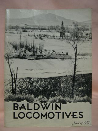 BALDWIN LOCOMOTIVES: VOLUME 15, NO. 3; JANUARY, 1937