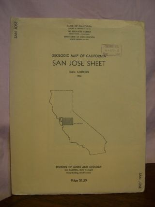 GEOLOGIC MAP OF CALIFORNIA, SAN JOSE SHEET, 1966