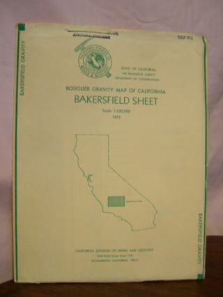 BOUGUER GRAVITY MAP OF CALIFORNIA, BAKERSFIELD SHEET, 1975