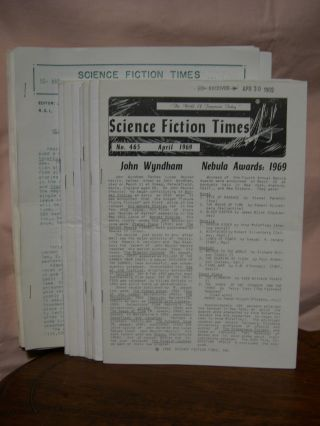SCIENCE FICTION TIMES. 21 ISSUES, 1967 -1969. James Ashe, Ann F. Dietz