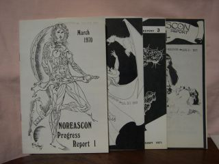 WORLD SCIENCE FICTION CONVENTION 29, 3-6 SEPTEMBER 1971. NOREASCON PROGRESS REPORT 1, 2, 3 and 4