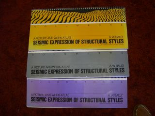 SIESMIC EXPRESSION IN STRUCTURE AND STYLE, A PICTURE AND WORK ATLAS, VOLUMES1, 2 & 3 [ONE, TWO & THREE]. A. W. Bally.