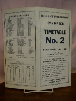 CHICAGO & NORTH WESTERN RAILWAY IOWA DIVISION [EMPLOYEE] TIMETABLE NO. 2
