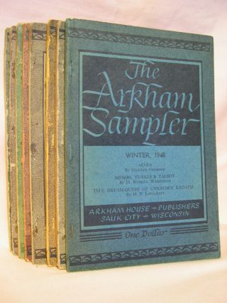 THE ARKHAM SAMPLER, VOLUME I, NOS. 1,2,3,4, VOLUME II, NOS. 1,2,3,4. August Derleth
