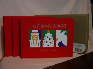 THE CHRISTMAS ALPHABET: DELUXE EDTION. Robert Sabuda