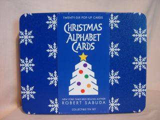 CHRISTMAS ALPHABET CARDS: COLLECTIBLE TIN SET. Robert Sabuda